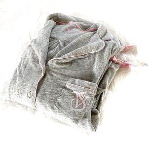 Victoria's Secret VS gray pink long pajamas small